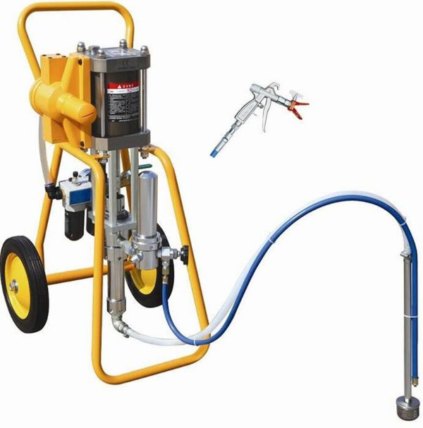 270107 Airless paint sprayer 30:1 complete set including airless paint spray, pole, tips and blue hoses 120mtrs 15mtrs each.