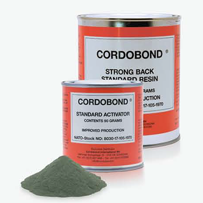 812301 Cordobond strong back resin and activator 450 grms