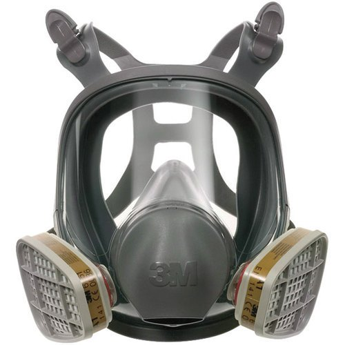 331174 Full face mask respirator L with sparse filters 2 each, 3M model