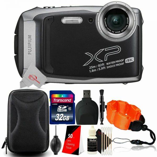 Fujifilm Finepix XP140 Waterproof Digital Camera Silver + 32GB Accessory Kit